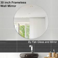30 inch round 1 4 inch thick beveled polished frameless mirror