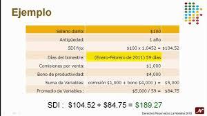 cmo calcular el salario diario integrado con sueldo la nómina cómo se calcula el promedio de variables youtube
