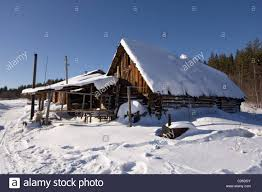 village home in russian country south ural mountains national