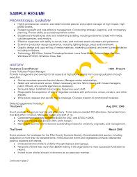 Events Manager Resume Sample by Resume For Wedding Planner Resume For Your Job Application