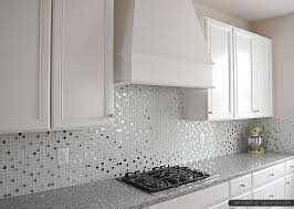 White Glass Metal Backsplash Tile Luna Pearl Backsplashcom - Metal kitchen backsplash