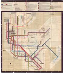 New York Bus Map by Up With The Underground Print Magazine