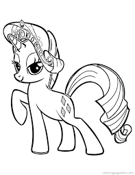 my little pony coloring pages rarity tiara my little pony