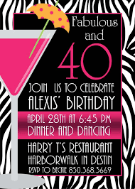 birthday invites chic 40th birthday invitations design