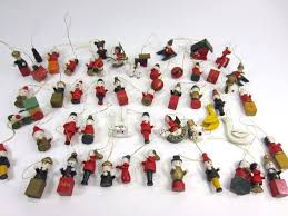 picture of small wooden christmas tree ornaments all can