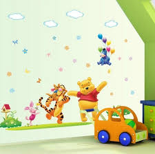 Wall Decals Baby Nursery Disney Happy Winnie The Pooh Nursery Wall Sticker