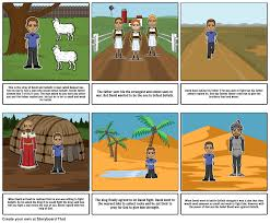 david and goliath storyboard by evamakris