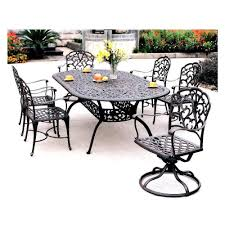 6 Person Patio Dining Set - darlee catalina 7 piece cast aluminum patio dining set with oval