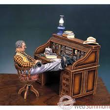 bureau a peindre figurine le bureau du shérif en 1880 s4 s2 de figurine à peindre