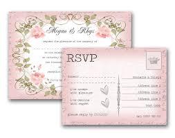 Wedding Invitations And Rsvp Cards Vintage Floral Wedding Invitation U0026 Rsvp Wedding Pinterest