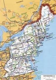 Blank Map Of Northeast States by Northeastern States Road Map Map Usa North East Google Images