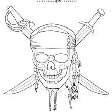 pirate skull coloring pages coloring