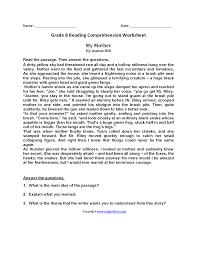 Comprehension Worksheets For Grade 8 Reading Worksheets Eighth Grade Reading Worksheets