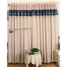 Country Plaid Valances Plaid Pattern Navy And Red Country Curtains