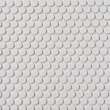 shop style selections white penny round mosaic porcelain wall tile