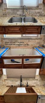 how to install farm sink in cabinet drop in retrofit farm sink in existing cabinet is possible