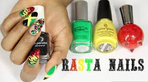 rasta jamaican nail art youtube