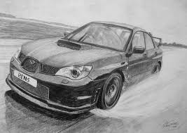 good pencil drawings of cars subaru impreza pencil