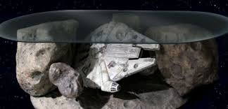 millennium falcon asteroid field coffee table revealed