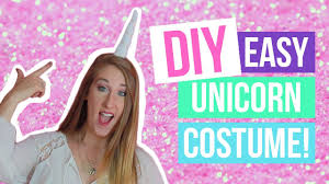 Unicorn Costume Diy Last Minute Simple Unicorn Costume Dana Jean Youtube