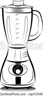 dessins de cuisine blanc mixer noir dessin cuisine illustration vecteur