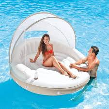 inflatable oversized swimming pool water lounge couch with sun