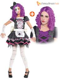 Halloween Baby Doll Costumes Child Damaged Zombie Doll Kids Girls Halloween Party Fancy Dress