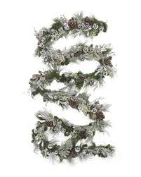 20ft frosted garland with bows decor t j maxx