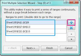 how to print multiple selections on one page in excel