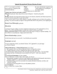 Sample Occupational Therapy Resume by Resume Chloe Elizabeth Lamb