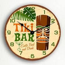 themed clock tiki bar retro tropical polynesian themed 12 silent