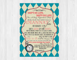 despedida invitation mad hatter bridal shower invitation bridal shower mad
