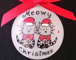cat ornamentcat christmas ornaments personalized ornament