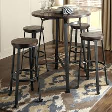 pub table and chairs with storage round pub table sets signature design by 5 piece round bar table set