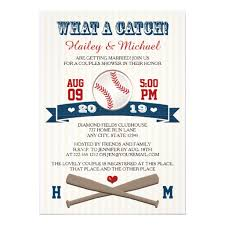 baseball wedding invitations personalized white blue wedding invitations