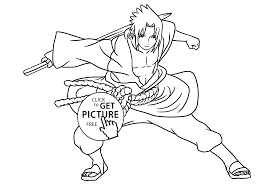 manga naruto coloring pages for kids printable free