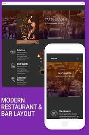 modern restaurant and bar u2013 divi layout