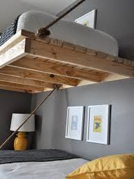 Diy Hanging Bed Diy Hanging Bed Finished Hanging Bed Full Size - Suspended bunk beds