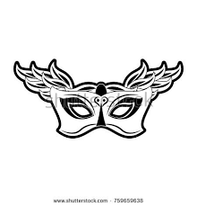 mardi mask mardi gras mask stock vector 759659638