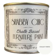 chalky white shabby chic furniture chalk paint 1 litre