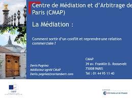 chambre d arbitrage de centre de médiation et d arbitrage de cmap ppt