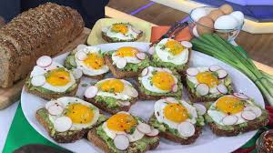 canape toast side up avocado toast recipe dave zinczenko recipe abc