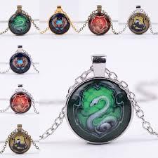 necklace types images Wholesale 12 types harry hogwarts necklace snake lion eagle badge jpg