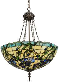 Inverted Bowl Pendant Light by Meyda Tiffany 65965 Iris Tiffany Inverted Pendant Light Md 65965