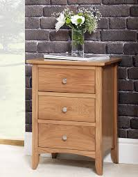 bedroom furniture bedside cabinets edward hopper oak bedside table 3 drawer assembled bedside