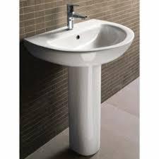 modern pedestal sinks for small bathrooms modern pedestal sinks amazing maccione ii sink with 3 udouplaty