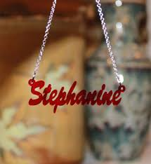 acrylic name necklace cursive acrylic nameplate necklace be monogrammed