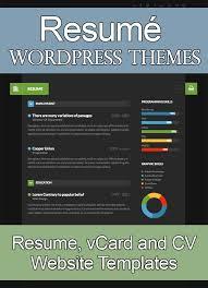Wordpress Resume Themes 15 Best Wordpress Resume Themes 2017 Smashthemes