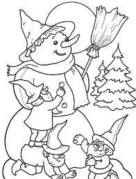kids snowman coloring pages winter coloring pages
