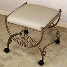gold vanity stool vanity chair with wheels bedroom inspiring vanity chair with